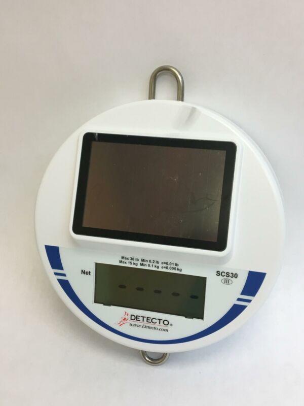 Detecto Digital Solar Hanging Scale 30 lb Capacity Model SCS30
