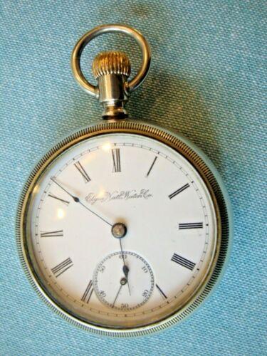 Just Serviced Nice 15J, 1894 Elgin 18s, Model 5, G.M. Wheeler Grade Pocket Watch