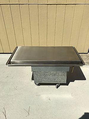 Atlas Metal Industries WF-3 Electric Drop In Iced Salad Bar Frost Top W/ Wheels