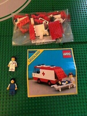 LEGO- LEGOLAND- HOSPITAL- AMBULANCE- 6688- USED- 100% COMPLETE- VINTAGE