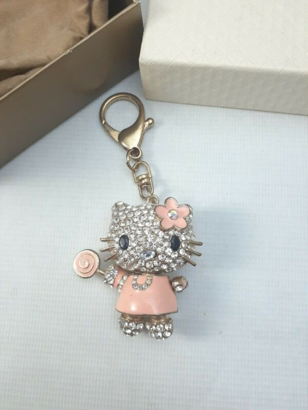 Hello Kitty QVC keychain pendant bling