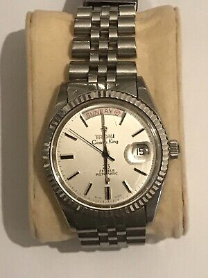VINTAGE TITONI COSMO KING 25 JEWEL Automatic DATE S/S (posh Parts)