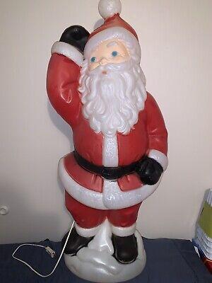 Vintage General Foam Santa Blow Mold, Good Shape! Working Light Cord