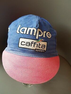 82ed4dc6a1c Lampre Caffita Kappa system Canondale Retro Cycling Cap Hat Bicycle Used