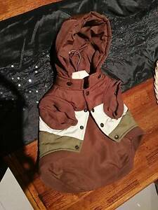 WagWear brown cream and khaki raincoat [new without tags] 35cm Greenacres Port Adelaide Area Preview