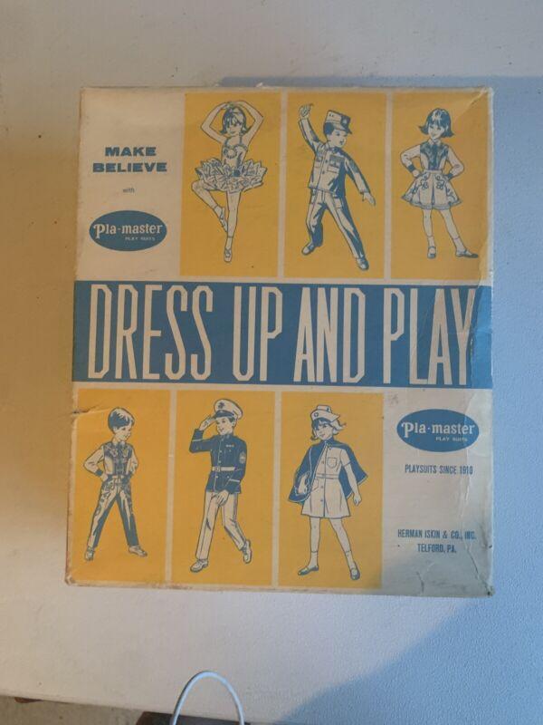 1950s Pla-Master Marine Soldier Play Suit Halloween Costume Childs Medium