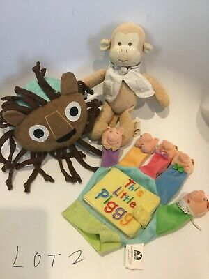 Baby Toy Plush Lot Miyim Organic Monkey Etsy Zady Ball Finger Puppet