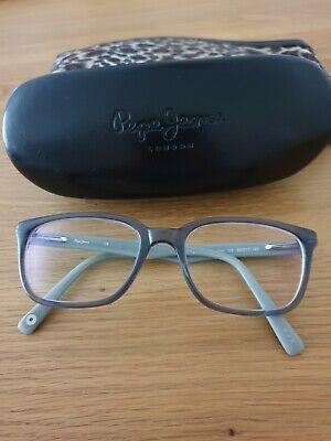Pepe Jeans Brillengestell , unisex, grau leicht transparent, ohne Mängel