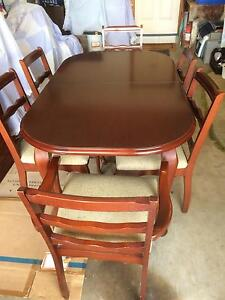 Queen Anne Dining Table,6 chairs Yagoona Bankstown Area Preview