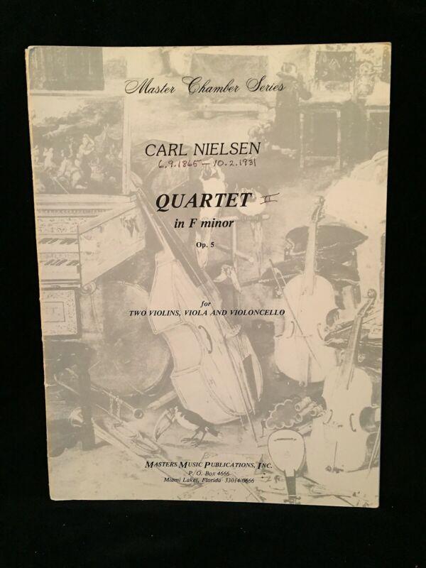 NIELSEN, CARL - String Quartet in F Minor Op. 5 - Set of 4 Parts - MUSIC MASTERS