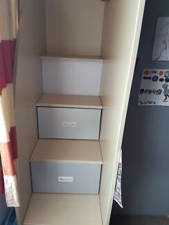 Bunk Bed with study , storage drawers and Cupboard.