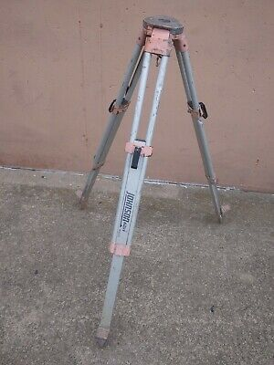 Johnson 40 6335 Contractors Tripod Aluminum Transit Pre Owned Works