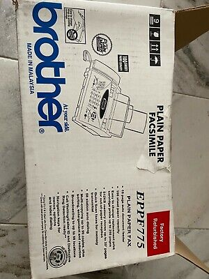 Brother Intellifax Eppf775 Plain Paper Thermal Fax Copier Factory Refurbished