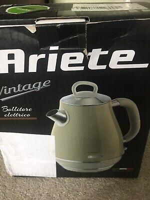 Ariete 2869 Vintage Retro Electric Kettle Cream/Beige 1.7L Return 2 Pin Plug