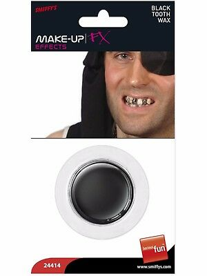 Black Tooth Out Wax Fancy Dress Halloween Pirate Zombie Special Effects Make Up](Black Tooth Wax Halloween)