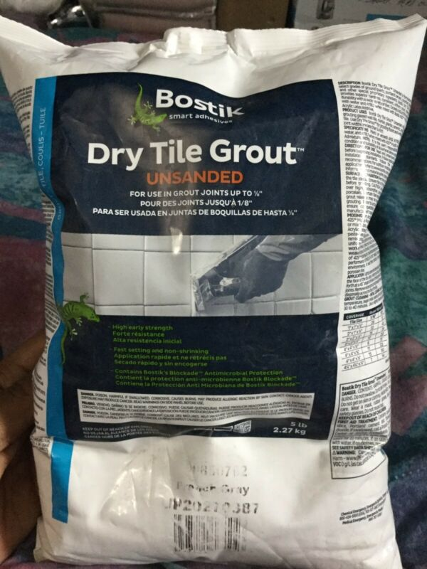 Bostik Dry Tile Grout Powder Unsanded French Grey 5 Lbs