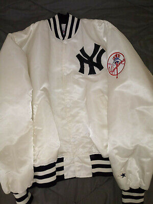 New York Yankees Satin Starter Jacket Size Extra Large Vintage Retro