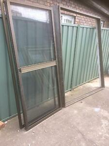 Brown aluminium sliding door Casula Liverpool Area Preview