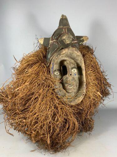 210133 - Old & Rare Tribal used African mukhanda Yaka mask - Congo.