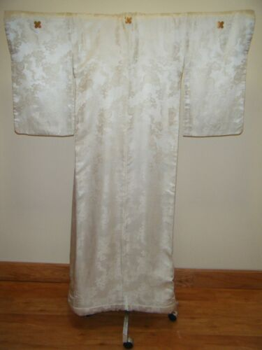 Antique Japanese Meiji Uchikake Bridal Kimono w/ Delicate Embroidery