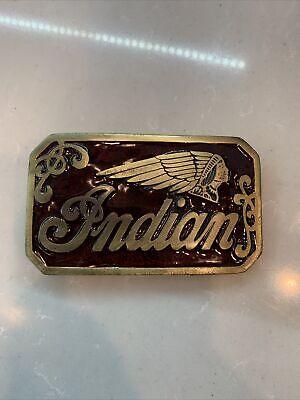Vintage INDIAN MOTORCYCLES Limited Edition BELT BUCKLE USA Biker Metal Silver