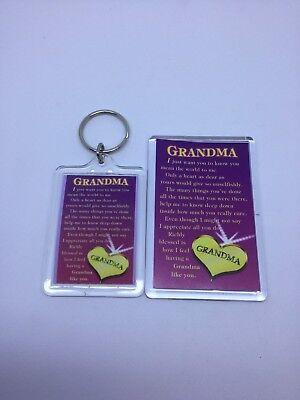 GRANDMA Keyring or Fridge Magnet - FAMILY GIFT PRESENT IDEA