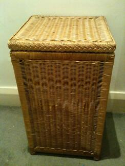 Large Handy Wicker Hamper with Hinged Lid and Handles Coogee Eastern Suburbs Preview
