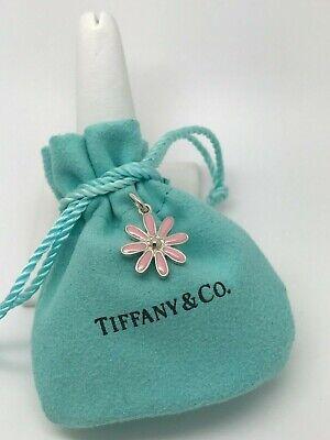 TIFFANY & CO Daisy Flower Charm Pendant Pink Enamel Finish in Sterling Silver ()
