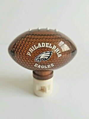 Philadelphia Eagles Night Light Football Shaped NFL Wilson Logo Football Shaped Light