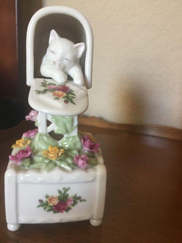 Royal Albert Cat In A Mailbox