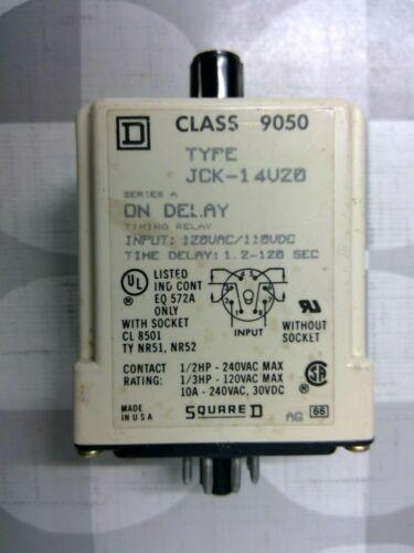 Square D JCK-14V20 Timing Relay **Free Shipping**