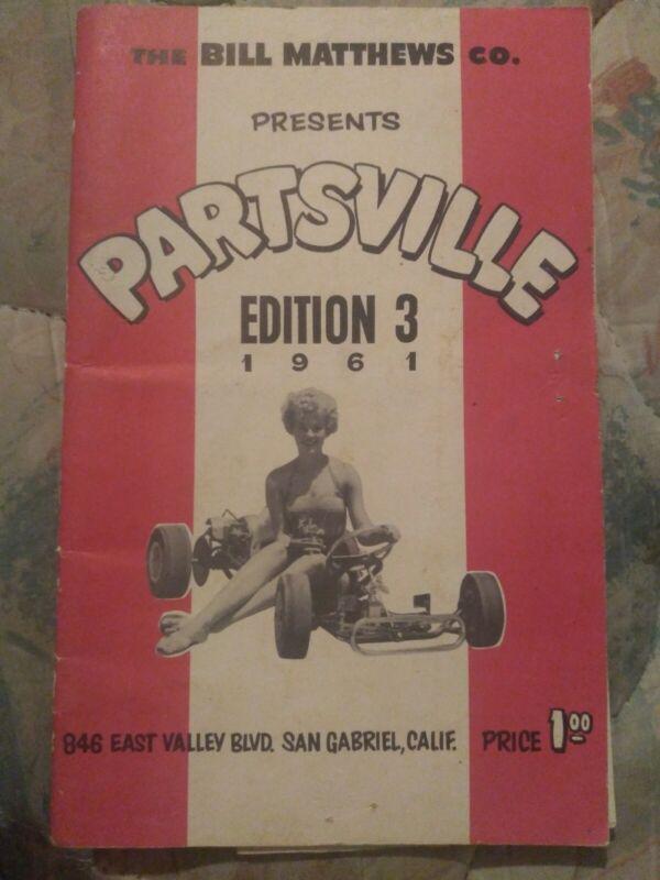 RARE Vintage 1961 The Bill Matthews Co. Presents Partsville edition 3. Catalog
