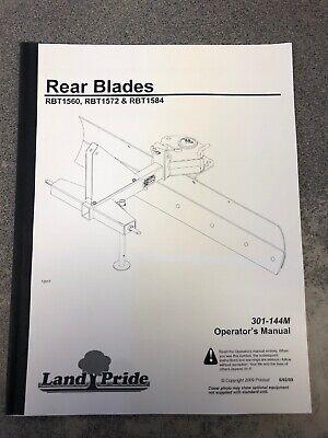 Land Pride Rear Blades Rbt1560 Rbt1572 Rbt1584
