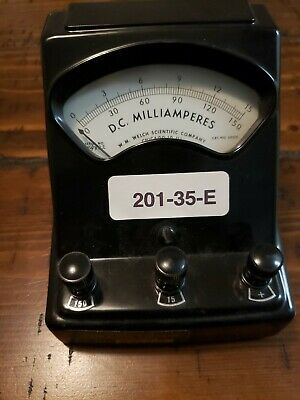 W.m. Welch Scientific Co. Dc Milliamperes Meter Cat 3031s