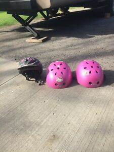 3 childrens bike helmets