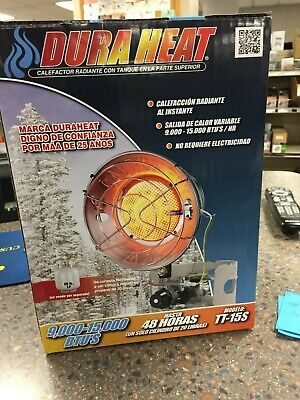 DuraHeat TT-15S Single Burner Tank Top Heater, 15000 BTU, 1000 sq-ft, Liquid Pro Burners Liquid Propane Heater