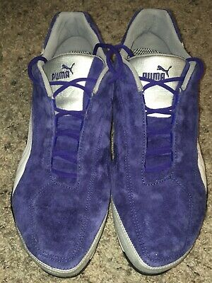 Puma Mens Blue Suede Advanced Racing Tech Sneakers NWOB Sz 12 VMC-0206 301000 01