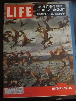 Life Magazine Wonders of Bird Migration Assassins Mind Trotsky Whodunit 1959
