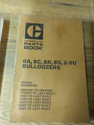 Cat Caterpillar Parts Book 8a8c8r 8s 8u Bulldozers