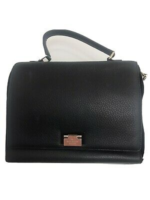Kate Spade Large Laurel Handbag In Black Leather And Suede Pre Owned