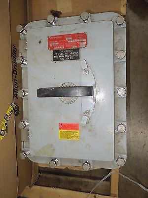 Appleton Eds-20036 200a 3ph 600v Ac 250v Dc Non-fused Hazardous Locations Switch