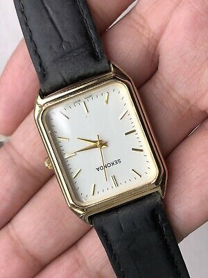 Vintage Sekonda Gold Plated Tank Men Watch WORKING