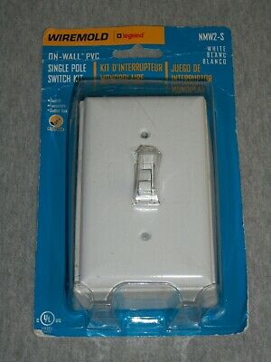 Wiremold Legrand On-wall Pvc Switch Kit Nmw2-s White Paintable New