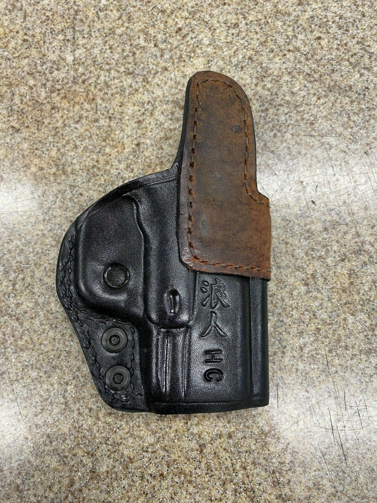 LEFT Hand Custom Leather Appendix Holster For A Springfield Hellcat - $35.00