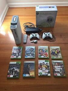 Xbox 360 Console with 8 Games Brighton East Bayside Area Preview