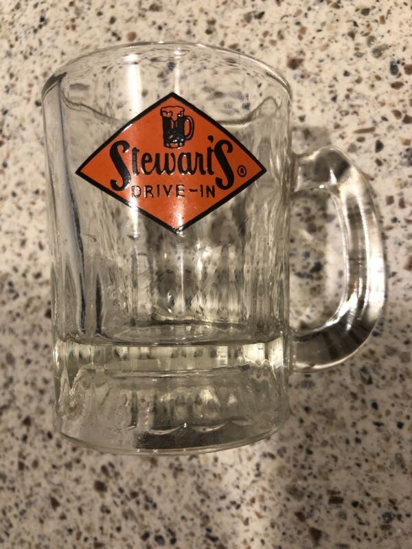 "STEWART'S Drive In Vintage 3"" Mini Glass Root Beer Mug"