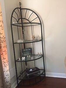 Glass Corner Display shelf