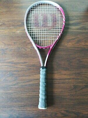 Wilson Hope Pink Tennis Racquet 4 3/8 L3 Cancer Awareness Wilson Hope Tennis Racket