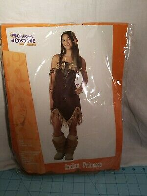 California Costume: Junior's Teen (3-5) Indian Princess 5 Piece Halloween - Junior Teen Kostüm