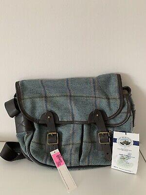 Johnstons Of Elgin Wool Tweed Tartan Satchel Handbag Bag